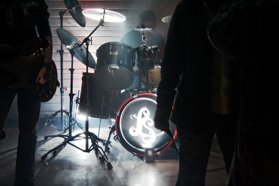 Photo du tournage du clip des Lightseekers
