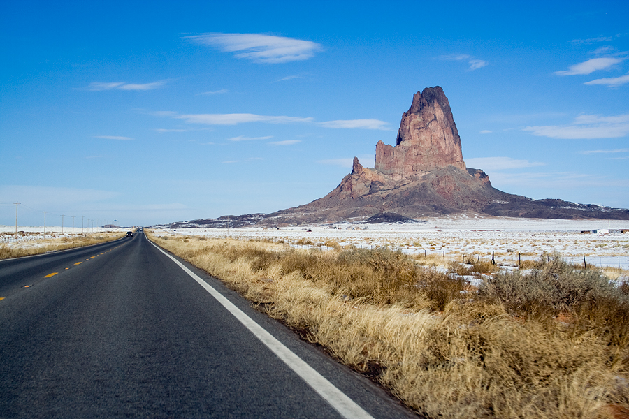Sur la route de Monument Valley - Arizona - USA