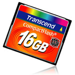 Carte Mémoire Transcend CompactFlash 16 Go High Speed 133X